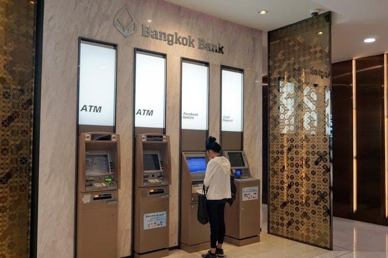 エムクオーティエのバンコク銀行のATM。