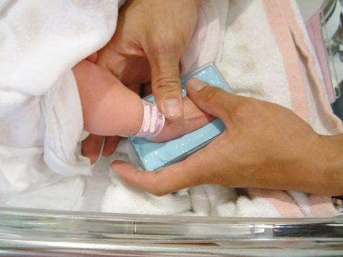 出産記念足型。