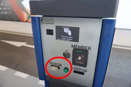 パーキングカードの機械。