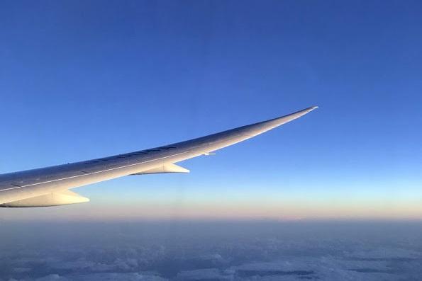 機内からの風景。