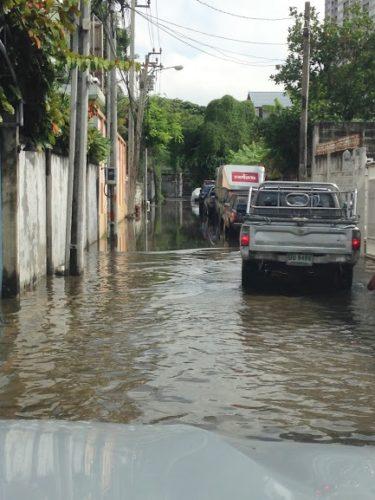 バンコクの洪水。
