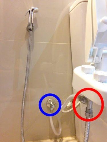 トイレシャワー。