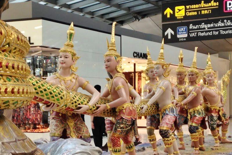 タイのスワンナプーム空港。