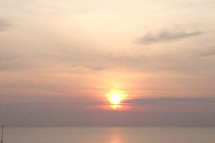チャアムの朝日。