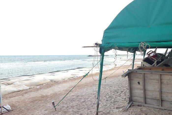 チャアムビーチのマッサージ。