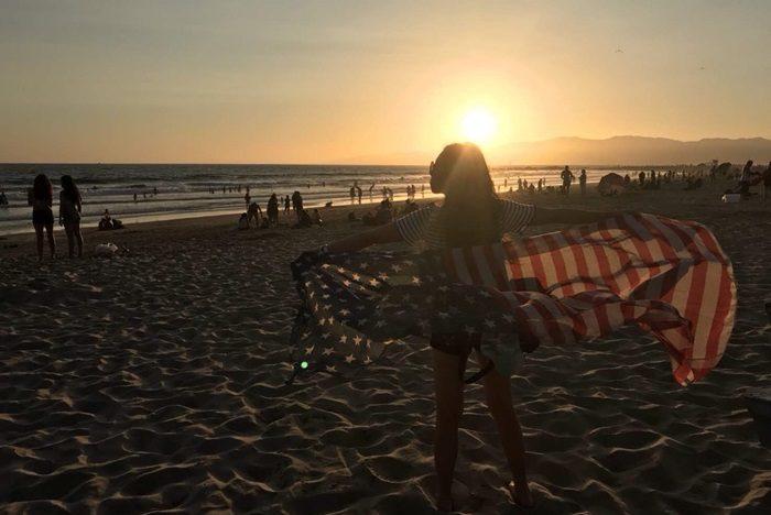 アメリカのサンタモニカビーチ
